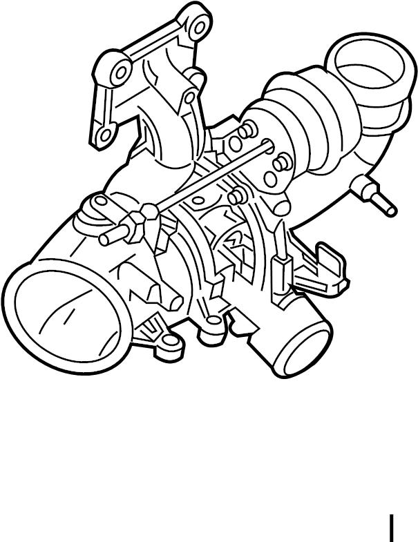 Cj5z6k682f Ford Exhaust Manifold Turbocharger Assembly