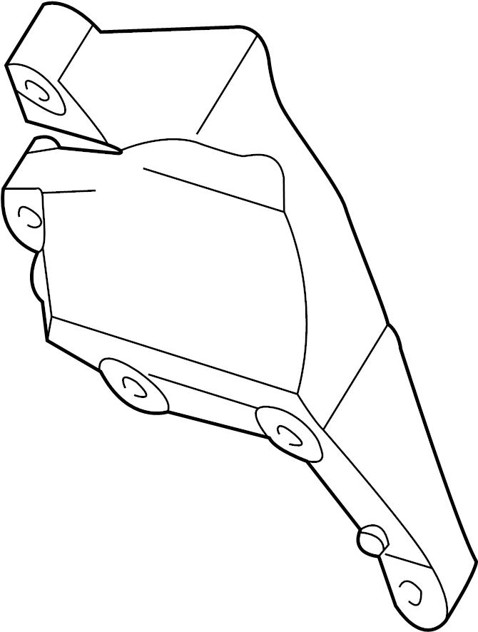 ford escape alternator bracket  alternator mount bracket