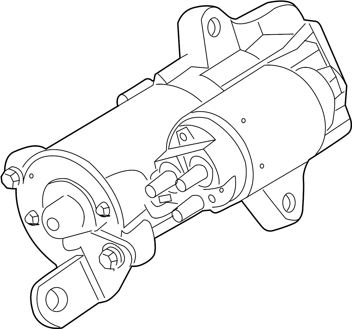 ford fusion starter  starter is serviced as an assembly