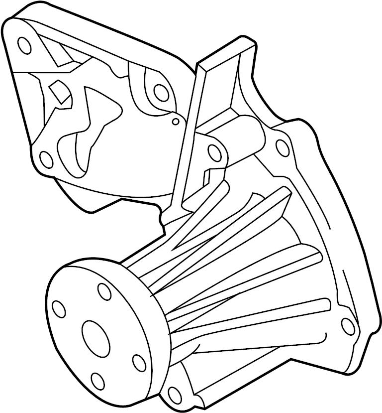 Ford Escape Water Pump Diagram