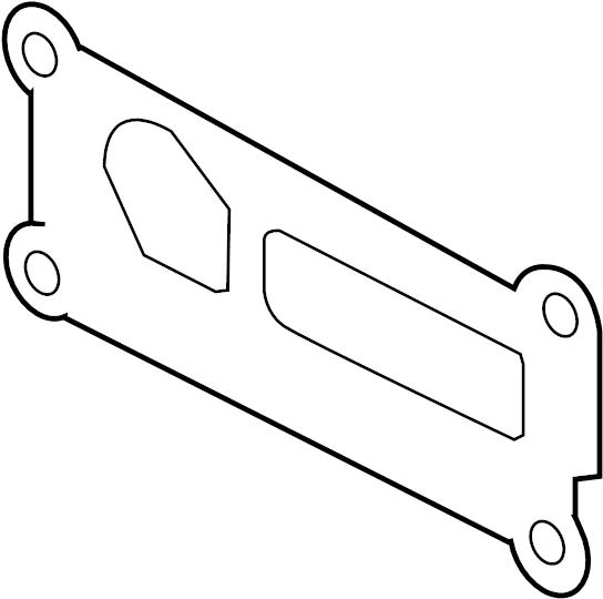 ford escape adapter gasket  gasket  oil cooler gasket