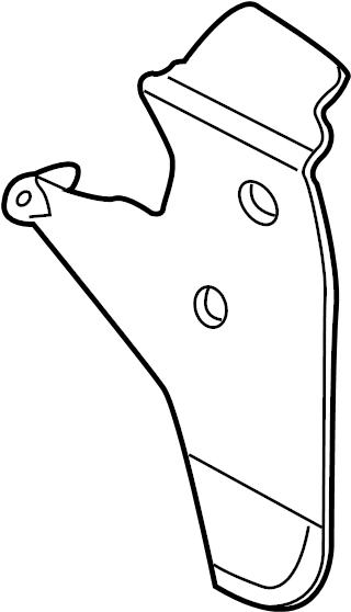 8l8z16a550b Ford Mud Guard Deflector Rear Kit