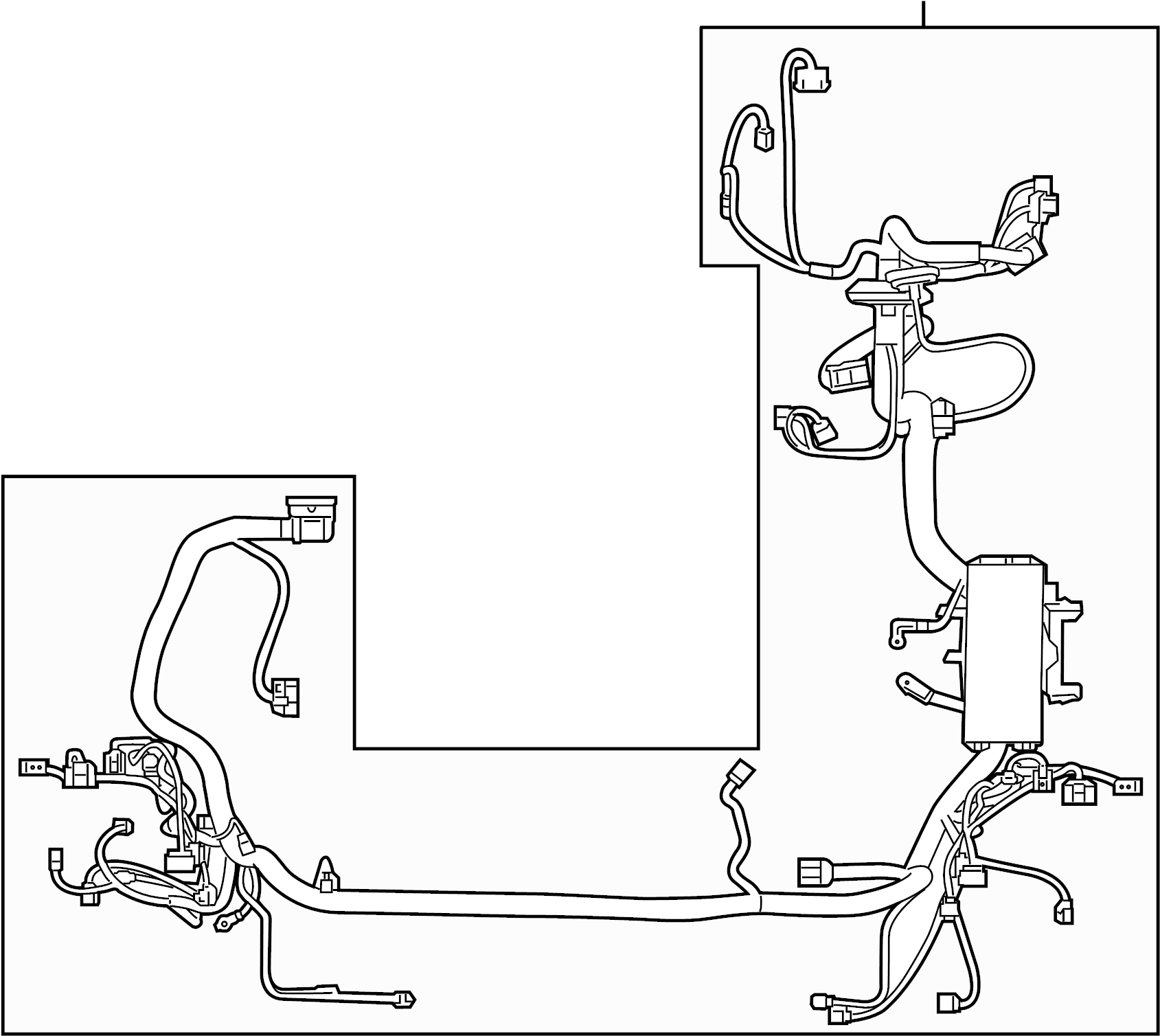 ford edge engine wiring harness  wire harness  wiring assembly