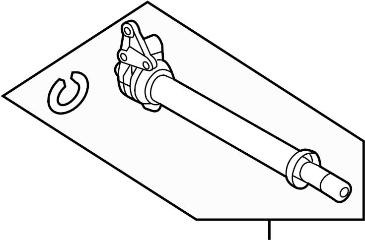 Ford Edge Cv Intermediate Shaft Right Axles Axle