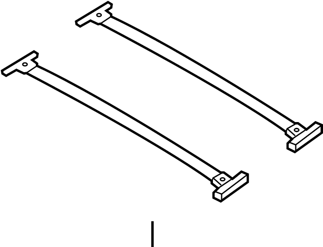 Ford Edge Roof Luggage Carrier Cross Rail Kit Bar
