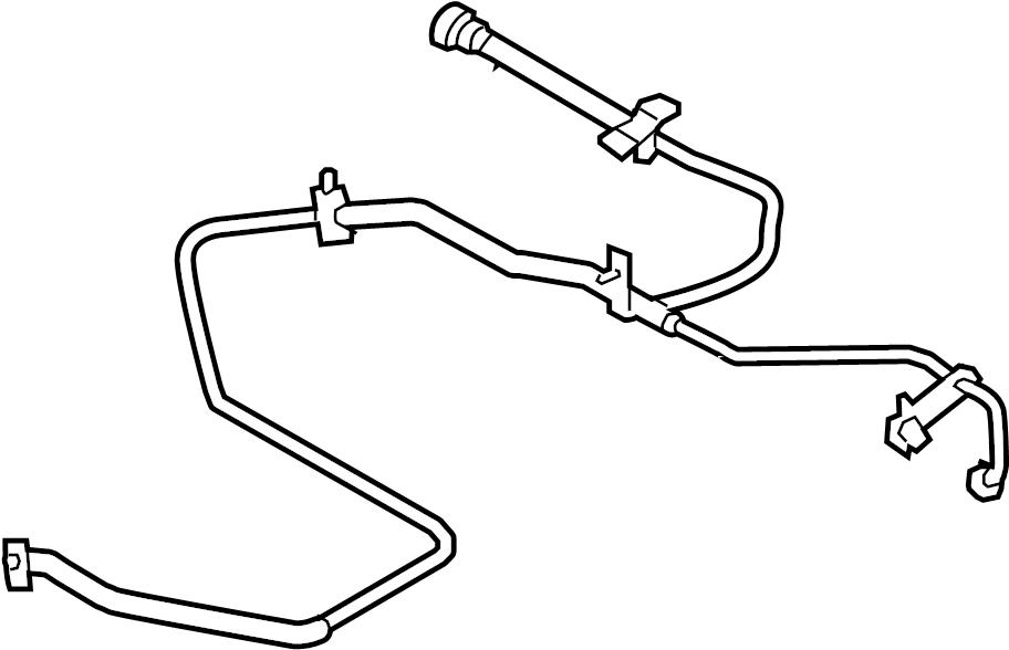 ford edge connector hose  evaporative emissions system