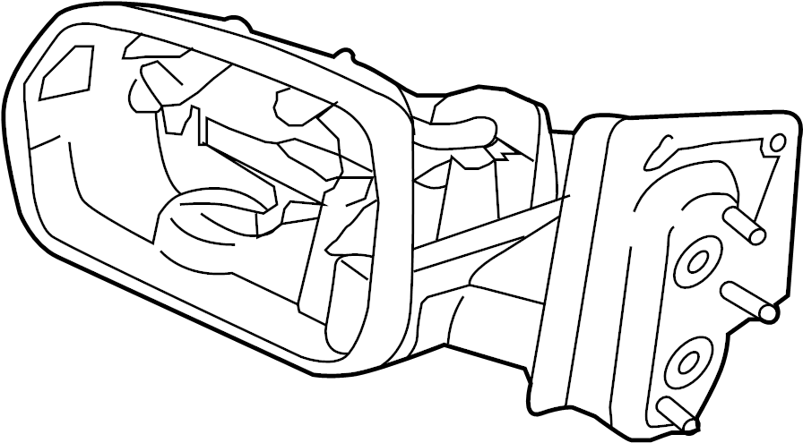 ford edge door mirror  rear   memory  power  fold