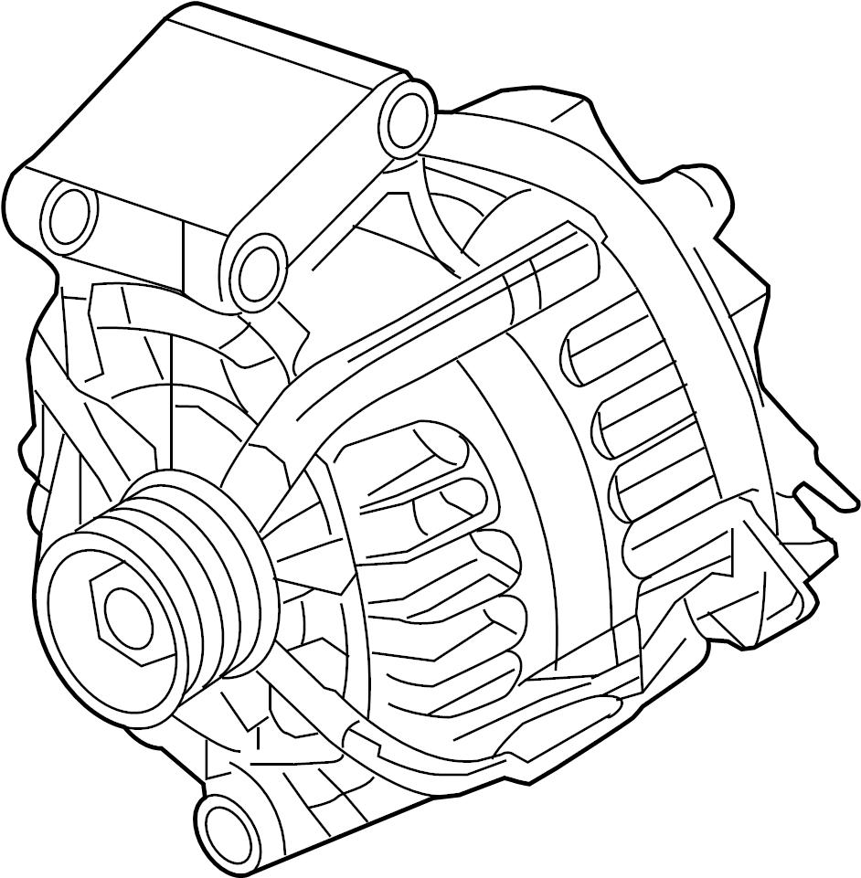 Ford Fiesta Alternator  1 6 Liter Non Turbo  Fiesta