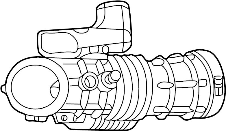 ford explorer engine air intake hose  outlet tube  4 0 liter 2002