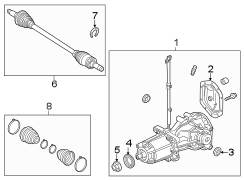 9e514000ac - ford differential  axle  assembly
