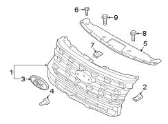 2016 ford explorer grille assembly radiator 2016 17. Black Bedroom Furniture Sets. Home Design Ideas