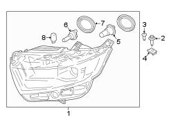 ford edge composite headlamp headlamp assembly halogen. Black Bedroom Furniture Sets. Home Design Ideas